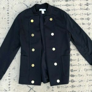 H&M Military Front Open Gold Button Jacket Blazer